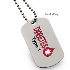 Diabetes Type 1 Dog Tag Partial Proceeds Benefit Diabetes Alert Dog Alliance