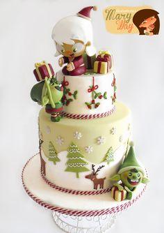 MaryWay Ilustratartas - Adorable Christmas cake