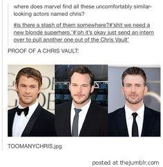 Marvel likes Chris