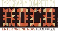 Typography Competition:  While design competitions are common enough, those devoted specifically to the use of typography are surprisingly rare, given the central role it plays in graphic communication. One of the few such contests is the annual Typography Competition organized by Communication Arts magazine.