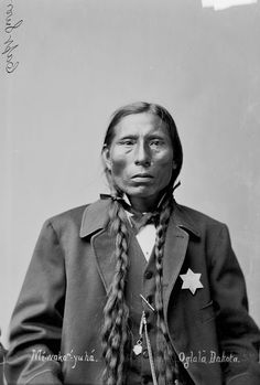An old photograph of the Native American known as George Sword - Oglala Native American Beauty, Native American Photos, Native American History, American Indians, American Symbols, American Quotes, American Women, American Art, American Haunting