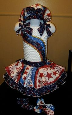 National Pageant Patriotic Casual Wear  Size 3-5t #Handmade #DressyEverydayHoliday