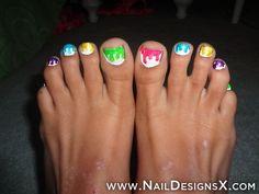 toe 7 nail design