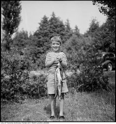 1934 - June - Boy with fishing catch - Vintage Fishing Photographs Gone Fishing, Fishing Boats, Canada Day Long Weekend, Roadside Picnic, Wasaga Beach, Fishing Signs, Elderly Couples, Kids Line, Family Picnic