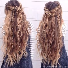 Boho mix of textured braids + beachy waves #glambytoriebliss