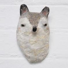 Image of Paper Mâché Head - WOLF