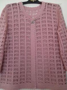 Hand Knitting Women's Sweaters Gilet Crochet, Crochet Coat, Crochet Cardigan Pattern, Crochet Stitches Patterns, Crochet Jacket, Crochet Blouse, Baby Knitting Patterns, Diy Crochet, Crochet Clothes