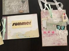 Loaded Paper Bag and Album / Scrapbook - A Whimsical Adventure