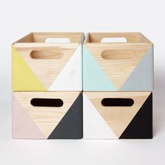 Geometric wooden box with handles Wooden storage box Toy box Office storage Kitchen storage Desk storage Storage modern home - Wooden storage boxes, Toy storage boxes, Wooden storage, Crate storage, W - Wooden Storage Crates, Kitchen Storage Boxes, Wooden Storage Boxes, Crate Storage, Wood Crates, Kids Storage Boxes, Crate Shelves, Tv Storage, Record Storage