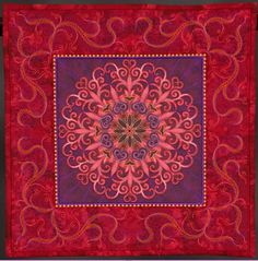 """2013 AQS Paducah 'Miniature Quilts' - 3rd place: Jeanie Sumrall - Ajero """"Flights of Fancy"""".  Also won first place in Miniature Quilt category at 'Road to California' 2013."""