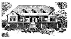 Eplans Low Country House Plan - Air of Carefree Luxury - 1919 Square Feet and 3 Bedrooms from Eplans - House Plan Code HWEPL06811