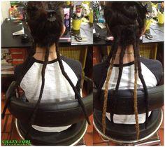 Manutenção e mais dreads nos cabelos de Gabrielle de Porto Alegre/RS
