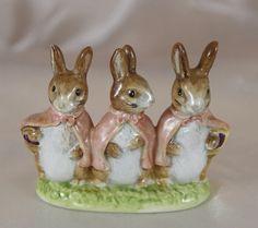 ~~RARE Beswick Beatrix Potter Flopsy Mopsy Cottontail Bunnt Gold BP2 Figurine~~