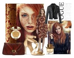 """If only I had RED hair!"" by dorataya ❤ liked on Polyvore featuring Austin Horn, Tory Burch, Michael Kors, Judith Leiber, Milani, Burberry, redhair, rust, women_fashion and dorataya"