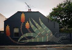 Amok island in Camperdown, Sydney, Australia, 2019 Mural Wall Art, Mural Painting, Outside Wall Art, Graffiti Art, Landscape Architecture, Art Reference, Exterior, Island, Sydney Australia