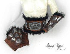 Pack de 1 cinturón de cuero bárbaro de señor de la guerra  2 Barbarian Costume, Magic Armor, Larp Armor, Medieval Fantasy, Natural Leather, Leather Craft, Weapons, Cosplay, Fancy