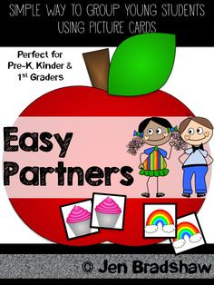 FREE for Teachers!  How to easily partner students up ~ especially for Pre-K, Kinder,  1st grade students.  EASY PARTNER! #student #partners