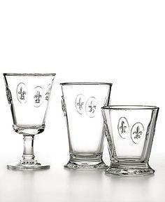 French Home La Rochere Fleur de Lis Glassware Collection. L-O-V-E!