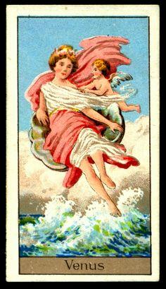 "https://flic.kr/p/kUPE6A | Cigarette Card - Venus | Boguslavsky's Cigarettes ""Mythological Gods & Goddesses"" (series of 25 issued in 1924) #9 Venus ~ Roman Goddess of Love"