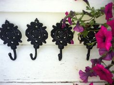 Wall Hook, Shabby Chic Wall Decor, HarDWAre IS inCLUded by LaBellasCottage on Etsy https://www.etsy.com/listing/102522894/wall-hook-shabby-chic-wall-decor