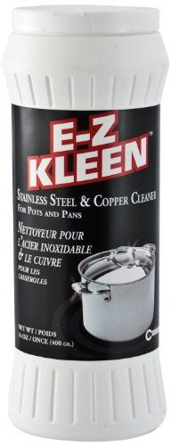 Cuisinox EZK-1000 Kleen 400gm Stainless Steel and Copper Cleaner, 14-Ounce, Bottle White 14 oz./400 gr bottle. Non-toxic & bio-degradable. Cleans stainless steel, copper, chrome & glass-top stoves. Anti-tarnish formula. Do not use on painted or highly polished surfaces.  #Cuisinox #Kitchen