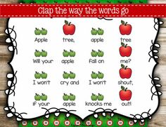 Apple Tree {Steady Beat} {Ta TiTi} {Do} #Kodaly #games #generalmusic Kindergarten Music, Preschool Music, Music Lessons For Kids, Kids Music, Music Games, Music Classroom, Future Classroom, Classroom Ideas, Beat Songs