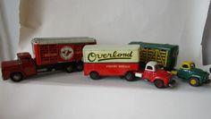 3 metalen vrachtwagens; K HS, Overland Japan, Western Cattle Van #MiddelburgsVeilinghuis