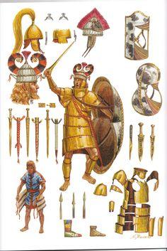 Giuseppe Rava - Guerrero micénico de la Edad de Bronce en armadura tipo…