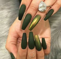 Discovered by xbapx. Find images and videos about nails, green and matte on We Heart It - the app to get lost in what you love.