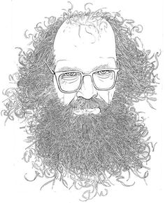 """The only thing that can save the world is the reclaiming of the awareness of the world. That's what poetry does.""  — Allen Ginsberg    Drawing by David A. Johnson"