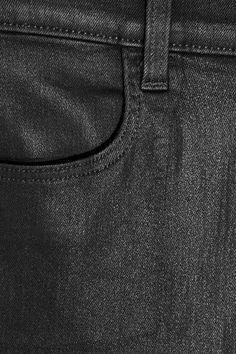 J Brand - Alana Coated High-rise Skinny Jeans - Black - 23