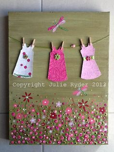 Pretty In Pink  Cute little Mixed Media on by JulieRyderMixedMedia, $65.00