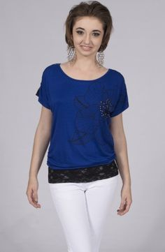 Royal Black with Sequins Top