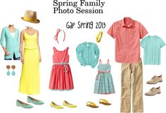 """""""Spring Family Photo Session Wardrobe"""" by kathryndeane on Polyvore"""