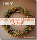 DIY a Natural Berry Wreath - Fabulous Fall - The Graphics Fairy