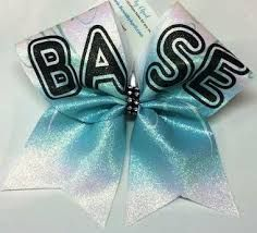 I love this bow because I am a base myself! I also love the colors! Softball Bows, Cheerleading Bows, Cheer Stunts, Cheer Base, All Star Cheer, Cute Cheer Bows, Cheer Hair Bows, Big Bows, Competition Bows