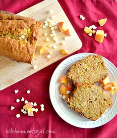 Spiced Peach and Carrot Bread from Kitchen Meets Girl