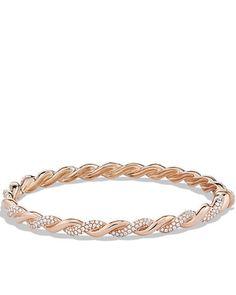 Wisteria Bracelet with Diamonds in Rose Gold