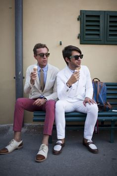 Street style at Pitti Immagine Uomo. [Photo by Kuba Dabrowski]