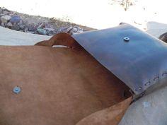 Large Handmade Leather Tote van Azkathygdesigns op Etsy