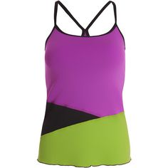 Stand out this Fall wearing the Sofibella Women's Athletic Cami. This fashionable tank features color blocking at the hem to flatter and a racerback strap with even more contrast detail around the middle seam. The Internal 360 bra will keep you feeling secure on the court. This cami coordinates well with all of the pieces in the Bali Collection! This fabric is an exclusive stay dry, anti-bacterial composition with UV-protection (UPF 50). Made in the USA.