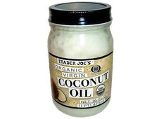 """Organic Virgin Coconut Oil for Thick, Curly Hair, available from Trader Joes 
