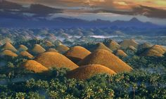 Chocolate Mountains, Philippines.