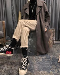 men's street style outfits for cool guys Mode Outfits, Retro Outfits, Cute Casual Outfits, Vintage Outfits, Fashion Outfits, Fashion Vintage, Emo Fashion, Hipster Outfits, Vintage Men