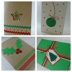Taller postales navidad en casa celebra con ana crafty - Manualidades tarjeta navidena ...