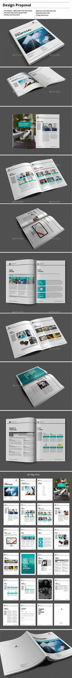 Design Proposal by This Product Now in Bundle size Proposalcolor swatches for simple color editing through whole documentimages, text a Business Proposal Template, Proposal Templates, Invoice Design, Brochure Design, Print Layout, Web Layout, Graphic Design Print, Ad Design, Proposal Writing