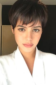 A pixie haircut is something that becomes trendier with each day. Are you ready to embrace the unknown? Then what are you waiting for? Dive in! #haircut#hairstyle#haircolor