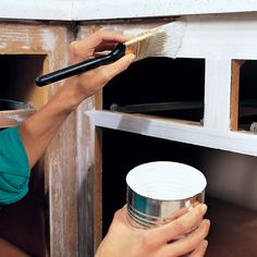 How to paint kitchen cabinets. -