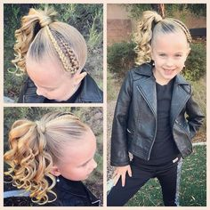 "574 Likes, 29 Comments - Ashley Cardon (@ashley_cardon_hairstyles) on Instagram: ""She begged for another high side pinytail like @itsjojosiwa , so I added my own little flare to it!…"""
