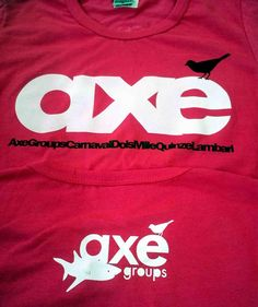 Camiseta de algodão estampada em silk screen para o Axé Groups por Foco Design & Gráfica.